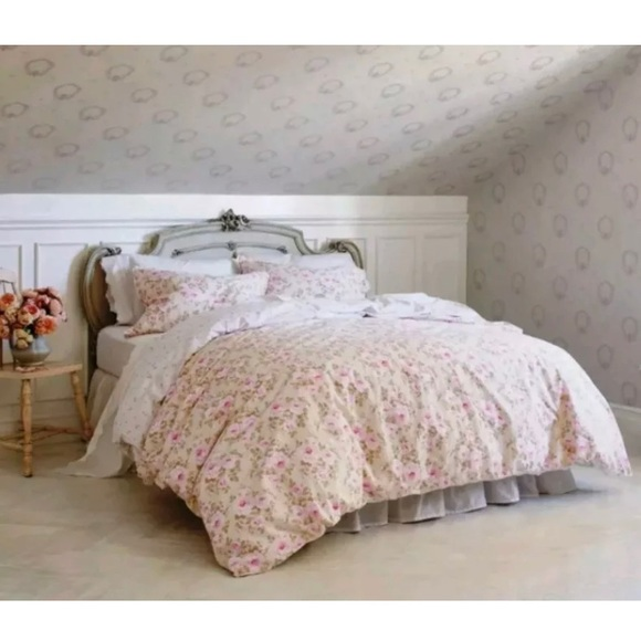 Outstanding Shabby Chic Duvet Set 3 Piece King Size Nwt Home Remodeling Inspirations Basidirectenergyitoicom